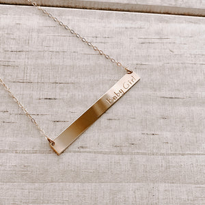 LOVE YOU MAMA BAR NECKLACE