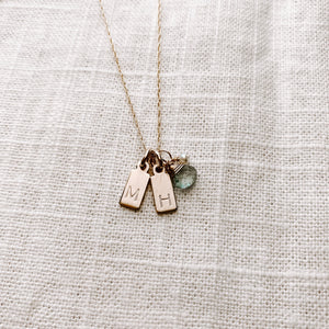 DOS MINI TAG NECKLACE