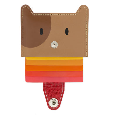 Credit Card Holder Zoo (Brown)