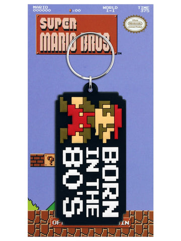 Super Mario Bros Rubber Keychain