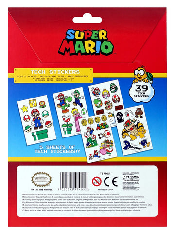 Super Mario Mushroom Kingdom Tech Sticker Pack