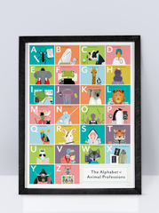Pop Chart Lab Poster (The Alphabet of Animal Professions)
