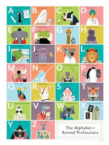 Pop Chart Lab Poster Animal Professions
