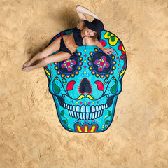 Beach Towel Sugar Skull