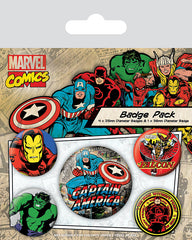 Marvel Retro Captain America Badge Pack