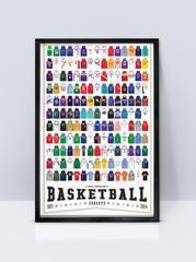 Pop Chart Lab Poster (A Visual Compendium of Basketball Jerseys)