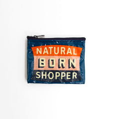 Coin Purse Natural Born Shopper