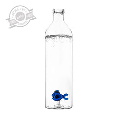 Blue Fish Bottle Glass