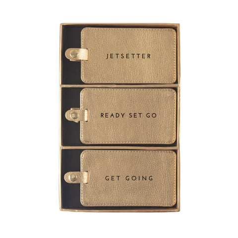 Luggage Tag Boxed Set Gold