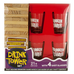 Drink Tower Wooden Block Drinking Game