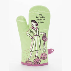 Oven Mitt My Favorite Salad is Wine