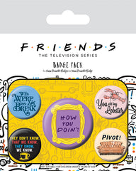 Friends Quote Badgepack