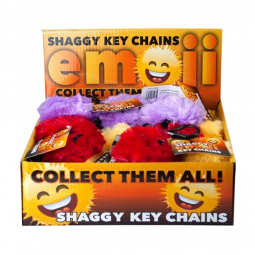 Shaggy Emoticon Keychain