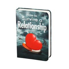 """How to Survive a Relationship"" Book Flask"