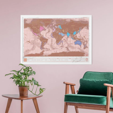 Scratch Map Rose Gold Edition
