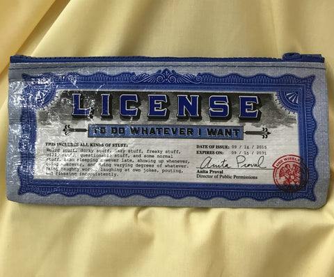 Pencil Case License