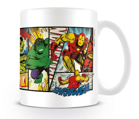 Marvel Retro Heroes Panel Mug