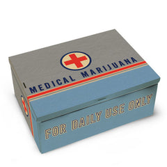 Tin Cigar Box (Medical Marijuana)