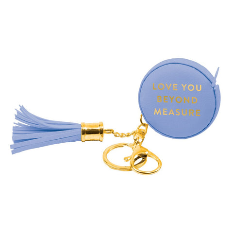 Measuring Tape Key Chain Periwinkle Love You