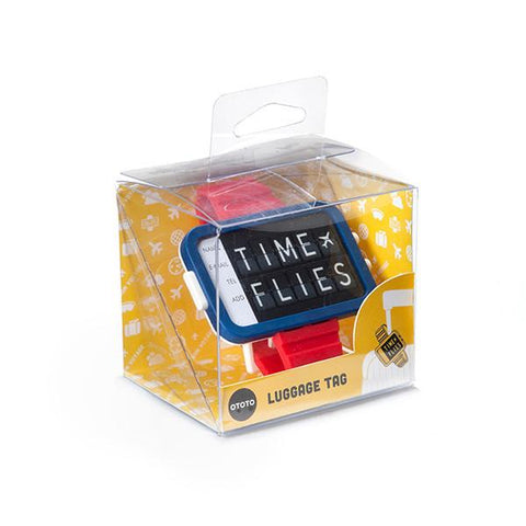 Time Flies Luggage Tag