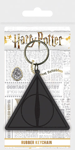 Harry Potter (Deathly Hallows Logo) Rubber Keychain