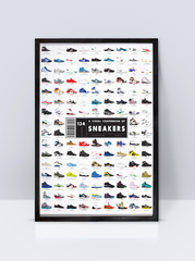 Pop Chart Lab Poster (A Visual Compendium of Sneakers)
