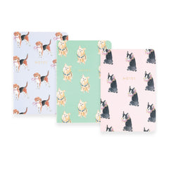 Pocket Journal Set of 3 Dogs