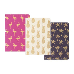 Pocket Journal Set of 3 Tropical