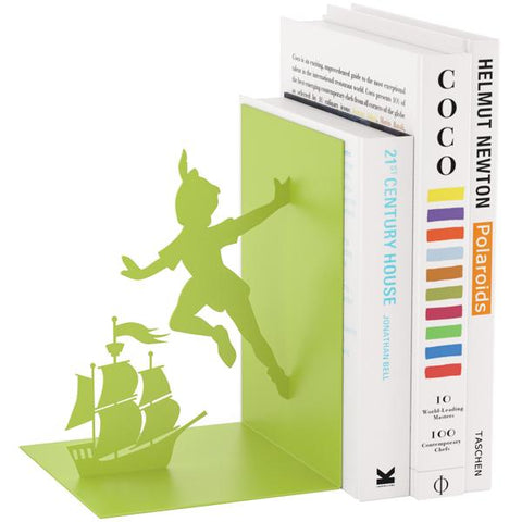 Flying Boy Green Bookend
