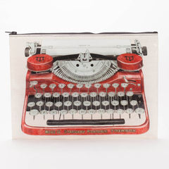 Jumbo Zipper Pouch (Typewriter)