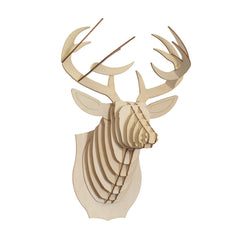 Bucky Deer Head (Wood)