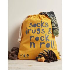 Travel Laundry Bag (Socks, Drugs and Rock & Roll)