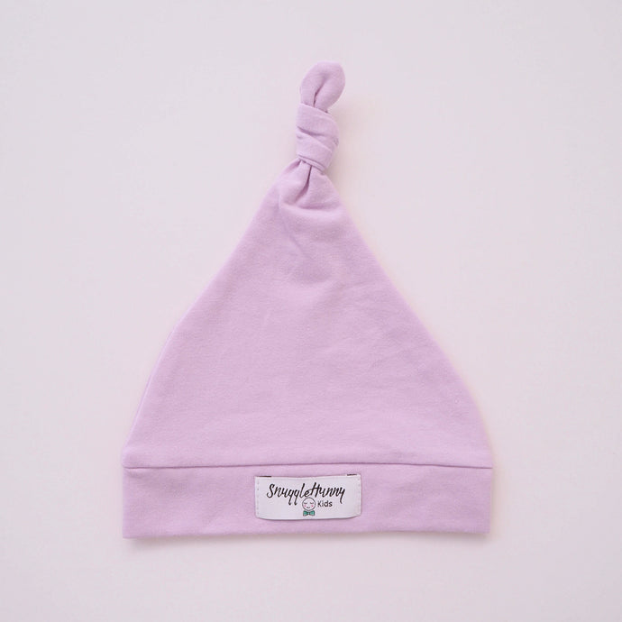 Lilac Baby Knotted Beanie