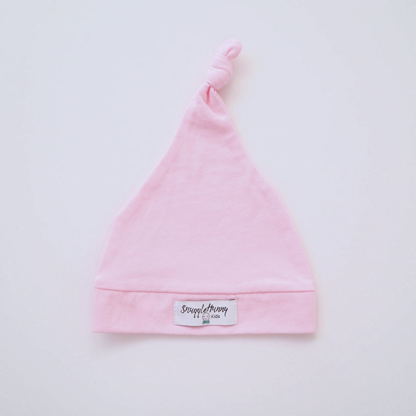 Baby Pink Baby Knotted Beanie