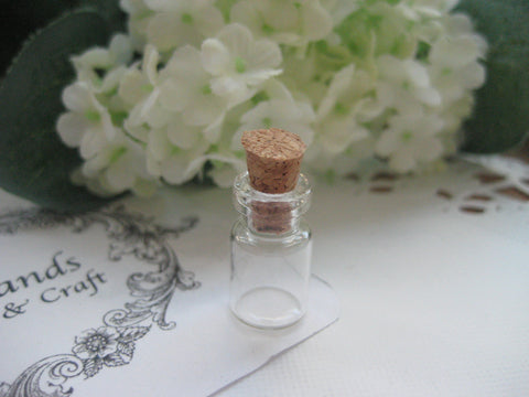0.5ml Glass Bottle with Cork Cover - 10(D)x18(H)mm #101805 --FREE SHIPPING
