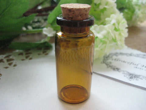 10ml Brown Glass Bottle - 22(D)x50(H)mm #B2250125 FREE SHIPPING