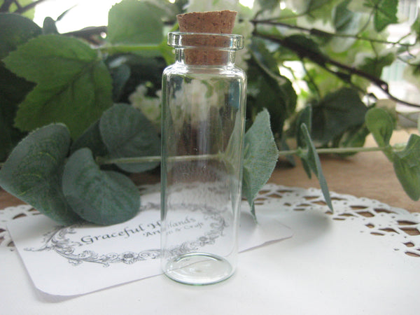 18ml Glass Bottle - 22(D)x70(H)mm #2270125 --FREE SHIPPING
