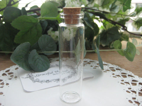 20ml Glass Bottle - 22(D)x80(H)mm #2280125 --FREE SHIPPING