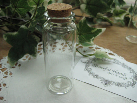 40ml Glass Bottle - 30(D)x80(H)mm #308017 --FREE SHIPPING