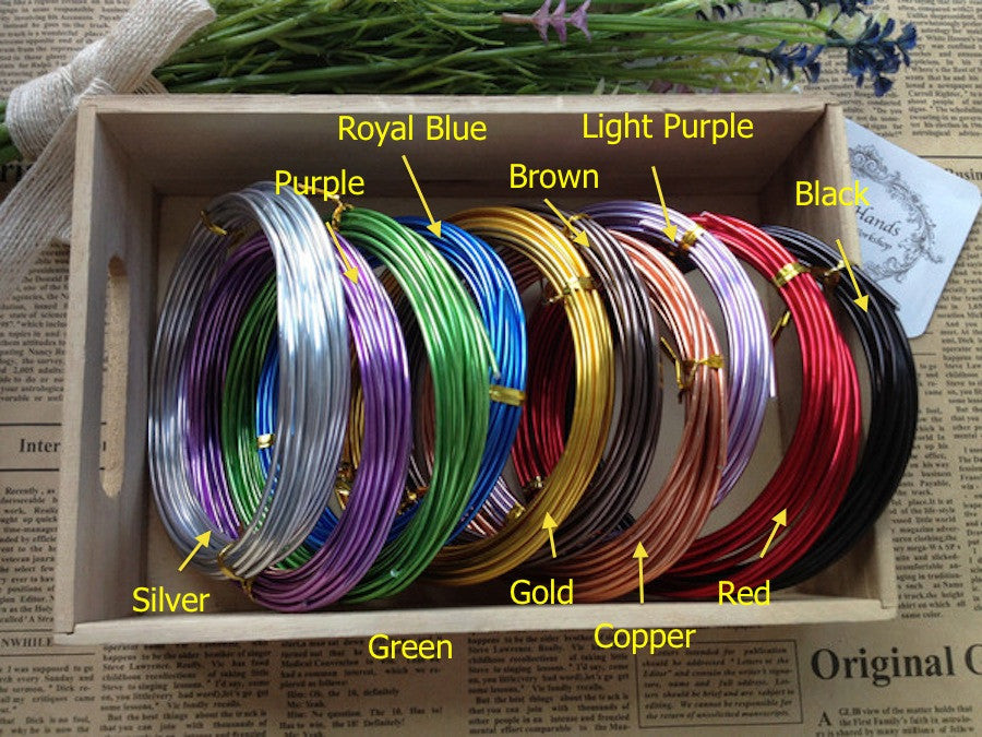 12 gauge (2mm) Aluminum Wire Roll - Each roll 16 foot (5 meter ...