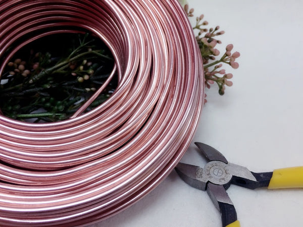 0.5 kg Artist's Choice Wholesale Aluminum Wire - 27 yards Free Shipping - 8 gauge (3mm) - 25 colors for choice