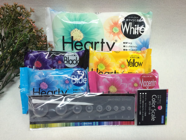 FREE SHIPPING - Hearty White Super Lightweight Clay Combo Pack- 200g Hearty White & 4pcs Hearty Color
