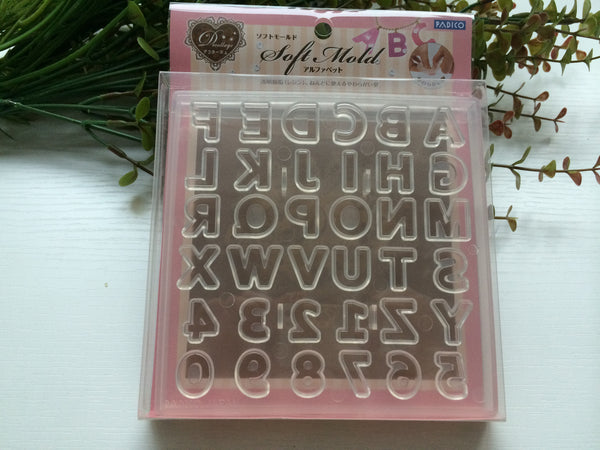 FREE SHIPPING - Padico Soft Alphabet and Number Clay Mold