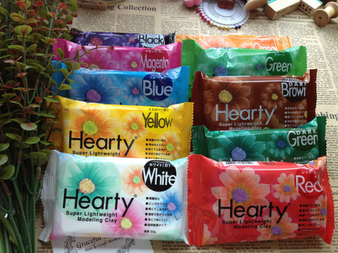 FREE SHIPPING - Hearty Super Lightweight Clay 1.75oz/50g -10 colors for your choice