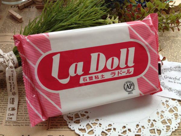 FREE SHIPPING - 500g La Doll Satin Smooth Natural Stone Modeling Clay