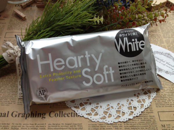 FREE SHIPPING - Padico Hearty Soft Super Lightweight Modeling Clay 7oz/200g - White Color