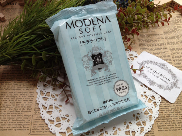 FREE SHIPPING - Modena Soft Air Dry Polymer Clay - 150g - Padico Brand (Made in Japan)