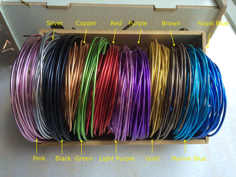 FREE SHIPPING -  2 rolls special package - 10 gauge (2.5mm) Aluminum Wire - 12 colors for choice