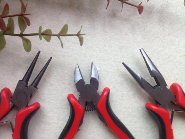 FREE SHIPPING - 3pcs Plier Set for wire, beading and jewelry making - approx. 5 inches long each
