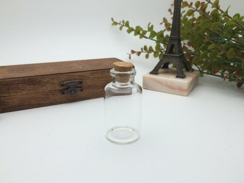 22ml Narrow Neck Glass Bottle - 30D)x55(H)mm #NN3055125 --FREE SHIPPING